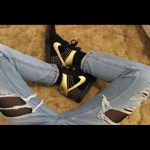 Nike gold and black wedges/sneakers